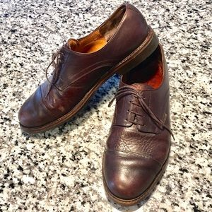 Brown Leather Oxfords with Goodyear Sole